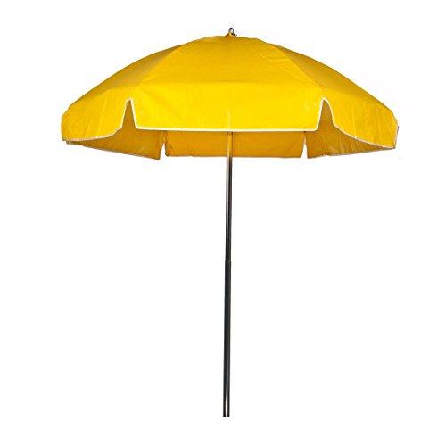 6.5 ft. Commercial Grade Steel Lifeguard Umbrella with Vinyl Canopy, Aluminum Pole, Manual Lift