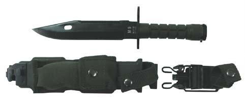 32 cm-longueur de la lame Ba/ïonnette m 9 19 cm manche en plastique vert en plastique et fourreau en nylon-longueur