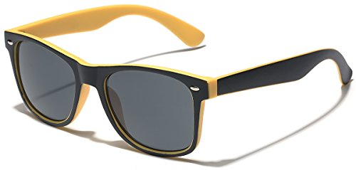 Classic Retro Fashion 2 Tone Sunglasses Matte Yellow