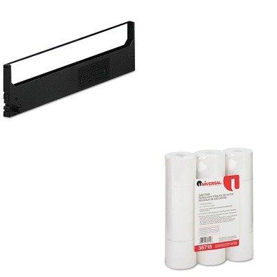 KITDPSR1800UNV35715 - Value Kit - Dataproducts R1800 Compatible Ribbon (DPSR1800) and Universal Adding Machine/Calculator Roll (UNV35715) - Dataproducts R1800 Compatible Ribbon
