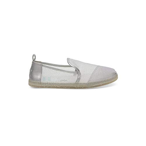 TOMS Silver Cinderella Glitter Mesh Women's Classic 10012745 (Size: 9)]()