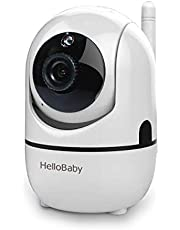 HelloBaby Video Baby Monitor with Remote Pan/Tilt/Zoom Camera and Two Way Talkback/Audio, LCD Display Screen, Night Vision, Temperature Sensor, Lullaby and Long Range (Extra Camera)