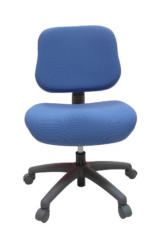 ORE International S-408BLU Youth Comfortable Adjustable Chair with Castors, Blue For Sale