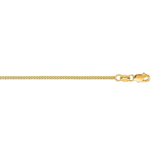 BH 5 Star Jewelry 14kt Yellow Gold 1.1mm Diamond Cut Milano Chain with Lobster Clasp (Available in 16