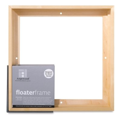 Ampersand Floaterframe for Wood Panels, 7/8 Inch Depth, Bold, 24x36 Inch, Black (FBOLD782436B)