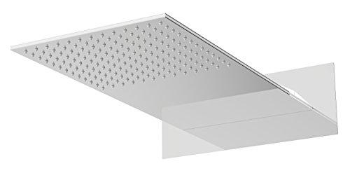 AURIGA Overhead Rain Shower | Wallmount | Single Flow | 600mm x 300mm Rectangle Shape | Silicon Nozzle Easy Clean System | WMS300