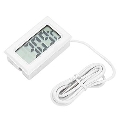 Nowakk Termómetro LCD Digital Mini portátil ConvenientLCD Refrigerador Congelador Frigorífico Termómetro Digital Medidor de Humedad Temperatura