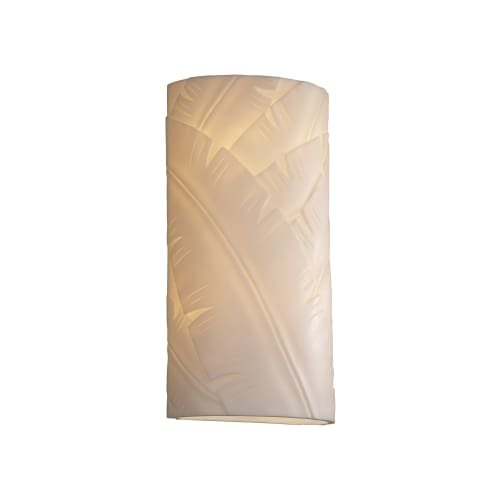 Justice Design Group PNA-1165 Large Cylinder Open Top and Bottom Wall Sconce fro, Banana Leaf by Justice Design