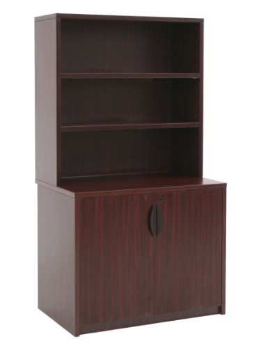 Regency Legacy 29-inch Storage Cabinet with Open Hutch- Mahogany (Mahogany Stacking Hutch)