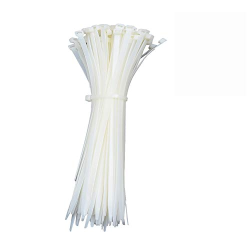 Zip Cable Ties Heavy Duty - Strong Zip Ties in Bulk - Self Locking Nylon Cable Management - Industrial Multipurpose Durable Wire Ties - 16 Inch,White