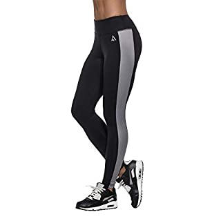 Premium USA Sports Leggings for Women   for Active & Relaxing Workout Activities Black/Grey