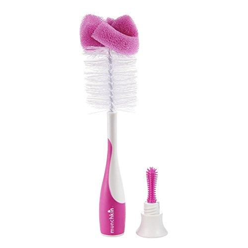 Munchkin Sponge Bottle Brush, Pink