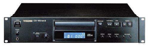 - Tascam CD160MKII Rackmount CD Player with MP3 Capability