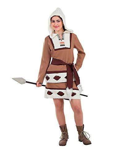 DISBACANAL Disfraz Esquimal marrón para Mujer - Único, L: Amazon ...