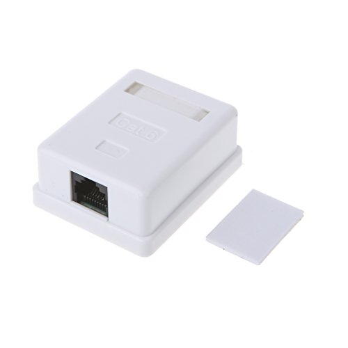 Price comparison product image Milue Cat6 RJ45 8P8C UTP Unshielded Single Port Desktop Mount Box