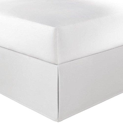 分割コーナーTailoredベッドスカートホワイトソリッド800スレッドカウントエジプト綿100 %クイーン(60