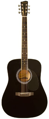Amazoncom Savannah Sgd 12 Bk Dreadnought Guitar Black Musical