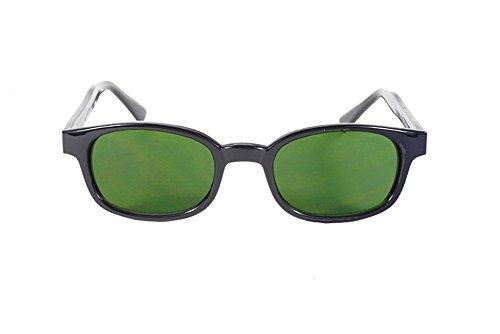 Original Kds Biker Green Lenses Black Frames Sunglasses