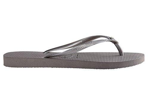 Flip Flop Slim Grey SW Glamour Steel Havaianas Women's Crystal wY6qOwXvA