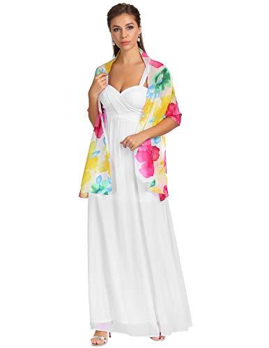 Chiffon Bridal Evening Dress Shawl and Wrap Scarf for Women