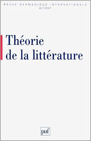 En ligne téléchargement Théorie de la littérature pdf, epub