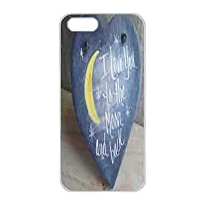Iphone 5s Case,Hard PC Iphone 5s Protective Case Design with A blue heart for Iphone 5s