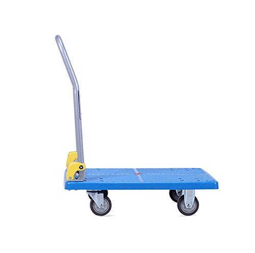Zehaer Portable Trolley, ZGL Trolley Multifunction Silent Flatbed Truck 4 Rounds Trolley Handling Trolley Pull Goods Trailer Light Trolley Hand Car (Size : S) (Size : Large) by Zehaer (Image #5)