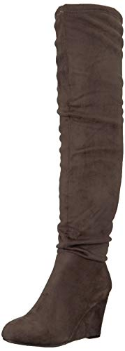 Chinese Laundry Women's UMA Over The Over The Knee Boot, Charcoal Suede, 8 M US