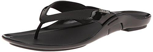 Calvin Klein Women's Odyssey Flip Flop, Black, 6 M US