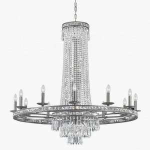Crystorama 5269-OS-CL-MWP Mercer - Sixteen Light Chandelier, Olde Silver Finish with Clear Glass with Clear Hand Cut Crystal