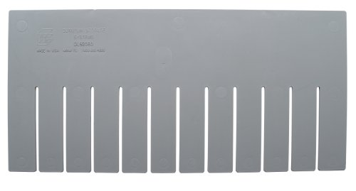 Quantum Storage Systems DL92080 Long Divider for Dividable Grid Container DG92080, Gray, 6-Pack ()