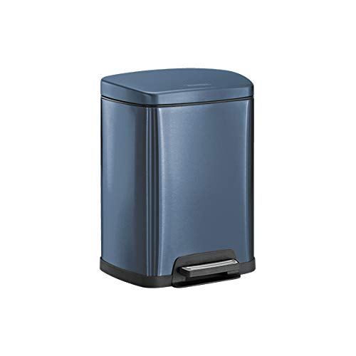 Four Gallon Plastic Step - Tramontina 81200/565DS Rectangular Step Can Freshener System, 2-5 Gallon Trash Can, Blue