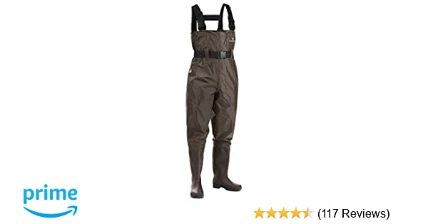 Amazon.com   FISHINGSIR Fishing Chest Waders for Men with Boots Mens Womens  Hunting Bootfoot Waterproof Nylon and PVC with Wading Belt   Sports    Outdoors 89a77c6c7e168