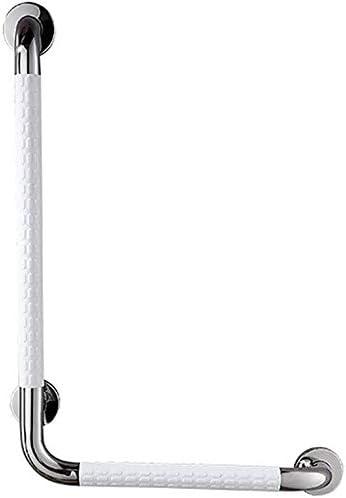 HJXSXHZ366 Ältere Patienten Hilfshandlauf L-förmige Handlauf Toilette L-förmige Stäbe aus Edelstahl Handlauf Rutsch gelb Sou (Color : White)