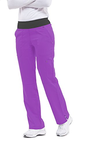 healing hands Purple Label Yoga Women's Tori 9133 5 Pocket Knit Waist Pant Berry Kiss- 2X-Large