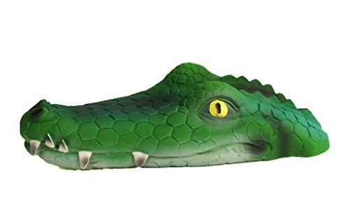 Large Squeaky Dog Toy Alligator 100% Natural Rubber (Latex). Lead-Free & Chemical-Free. Complies to Same Safety Standards as Children's Toys. Soft, unstuffed & Squeaky.