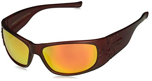 Black Flys Sonic 2 Floating Polarized Shield Sunglasses, Matte red, 65 mm