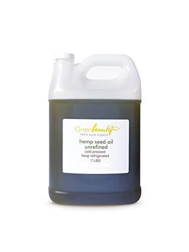 HEMP SEED OIL UNREFINED VIRGIN ORGANIC COLD PRESSED RAW 100% PURE 7 LBS/1 ()