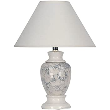 ORE International 609IV 15 Ceramic Accent Table Lamp, Ivory
