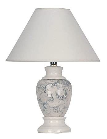 Ore International 609iv 60 Watt 15 Inch Ceramic Accent Table Lamp