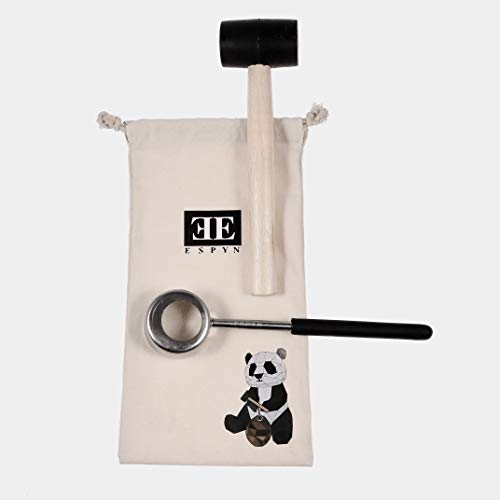 - BEST Coconut Opener Tool Set with Stainless Steel Tool + Durable Rubber Mallet - Easy to Use - Plus BONUS Cloth Tote
