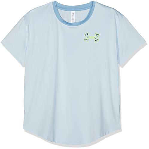 Under Armour HeatGear Armour Short Sleeve, Code Blue//High-Vis Yellow, Youth Medium -