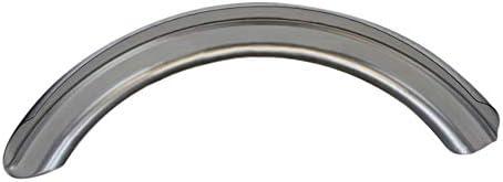 5 Wide Raw Steel Ribbed Bobber Fender