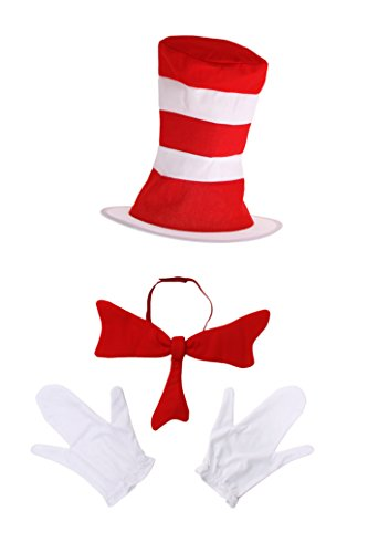 Dr Seuss Costumes For Babies (Dr. Seuss Cat in the Hat Costume Accessories Adults by)