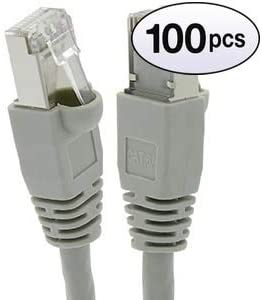 10 Gigabit//Sec High Speed LAN Internet//Patch Cable 550MHz 26AWG Network Cable with Gold Plated RJ45 Molded//Booted Connector GOWOS Cat6a Shielded Ethernet Cable 15 Feet - White