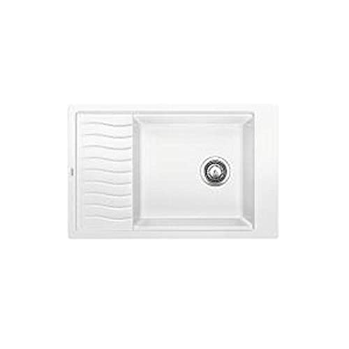 white kitchen sink with drainboard. Blanco 520853 Precis Medium Single Bowl Sink With Drainer, White White Kitchen Sink Drainboard I