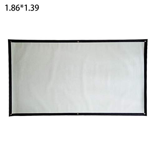 Butiline Light Resistant Projection Screen Portable Folding Movie Screen Household Projection Screens 73.2 x 54.7inch from Butiline