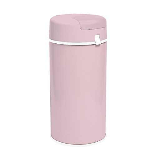 Bubula Steel Diaper Pail, Light Pink by Bubula