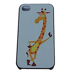 QJM A Giraffe Stand Design Hard Cases for iPhone 4/4S