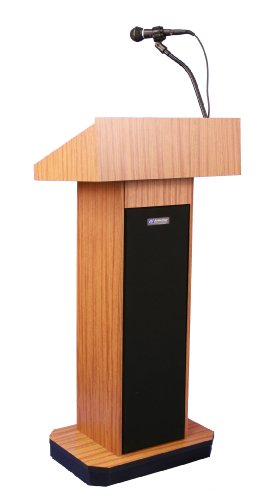(Executive Sound Column Lectern in Light Oak)